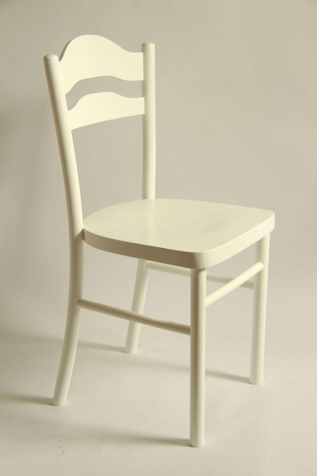 krzesło PRL białe