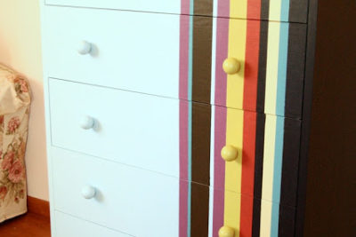 Jak pomalować komodę w paski
