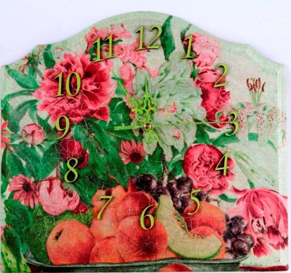 Zegar ścienny Owoce i kwiaty