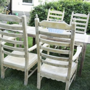 krzesło ogrodowe dębowe
