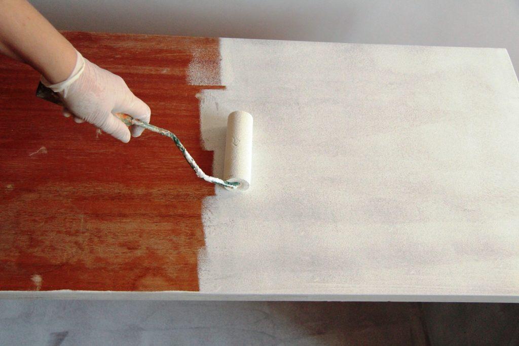 szafka PRL odnawianie mebli farba kredowa
