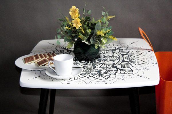 stolik kawowy patyczak PRL